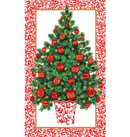 Caspari Decorated Tree Christmas Match-Box With 40 Match Sticks