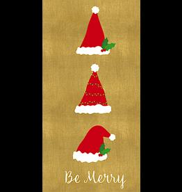 Caspari Christmas Money Holder Cards 4 Pack Be Merry