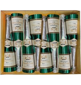 Caspari Celebration Crackers 8pk Champagne Bottle Cones