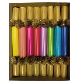 Caspari Celebration Crackers 8pk Color Palette Slims