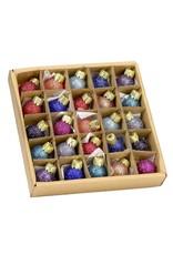 Kurt Adler 20MM Miniature Glitter Glass Ball Ornaments, 25-Piece Box Set