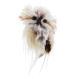 Kurt Adler Owl Ornament Brown And Cream Style B