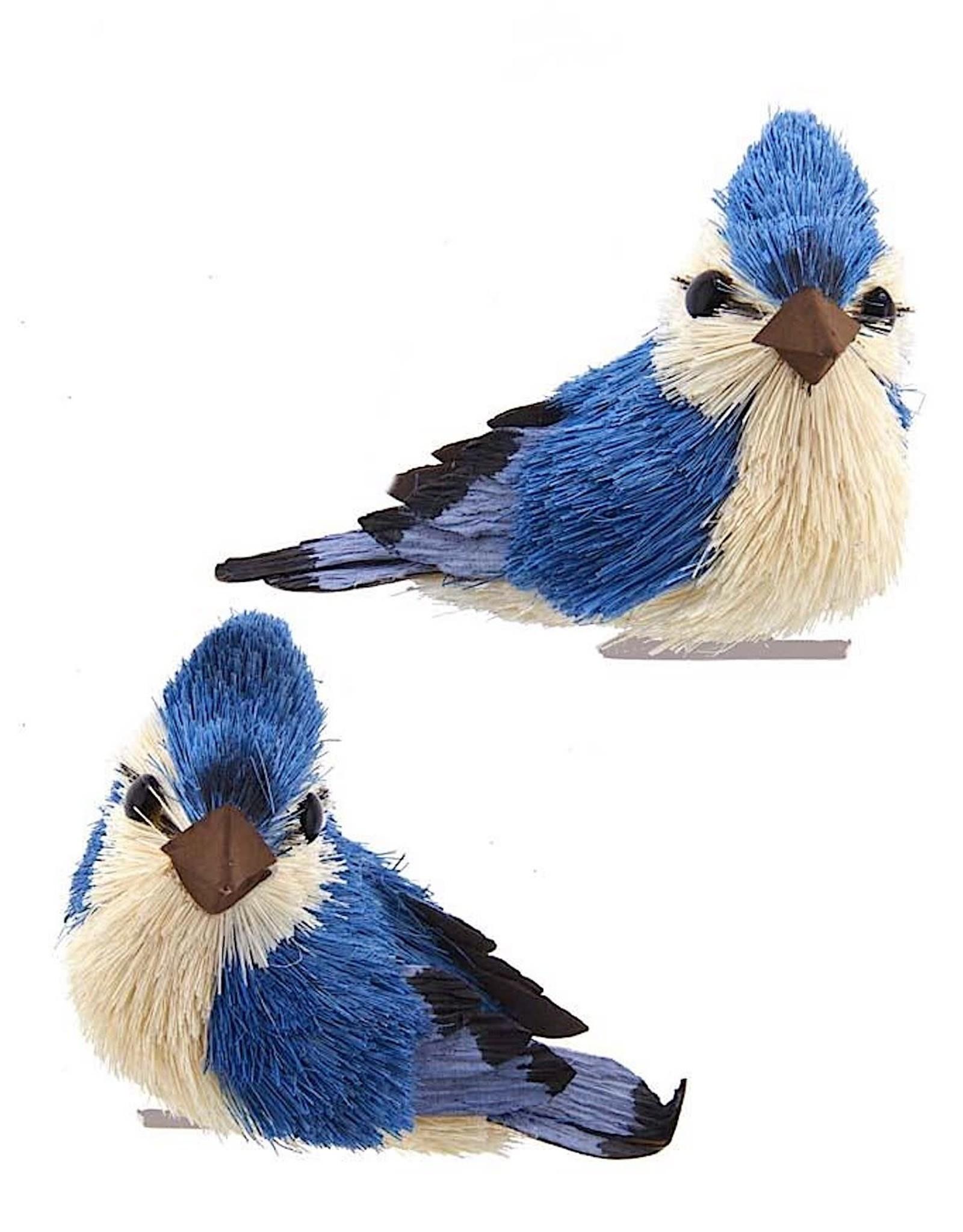 Kurt Adler Blue Jay With Clip Bird Ornaments 2 Assorted