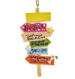 Kurt Adler Beach Sign Ornament BB