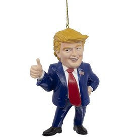 Kurt Adler President Trump In Blue Suit Giving A Thumbs Up Ornament