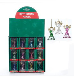 Kurt Adler Crystal Birthstone Angel Ornaments 12 Assorted