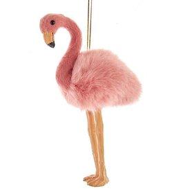 Kurt Adler Furry Pink Flamingo Ornament 6 Inch