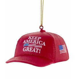 Kurt Adler President Trump Red Cap Ornament Keep America Great