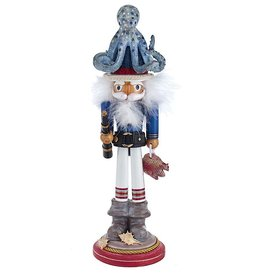 Kurt Adler Hollywood Octopus Hat Nutcracker 18H