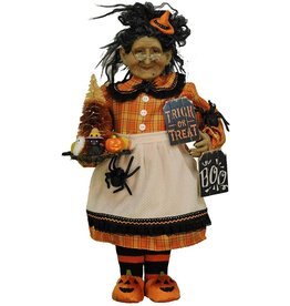 Karen Didion Halloween Lighted Trick Or Treat Witch Collectible 20 Inch