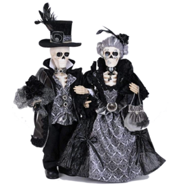 Karen Didion Halloween Percy And Lily Skeleton Pair Collectible 19-21H