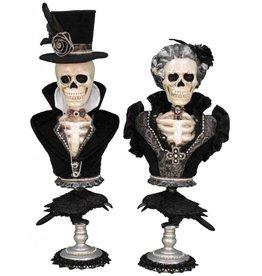 Karen Didion Halloween Winston And Victoria Skeleton Pedestals Figures