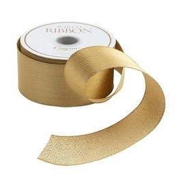 Caspari Ribbons Metallic Gold Wired Ribbon 1.5 Inch Wide x 8 Yards