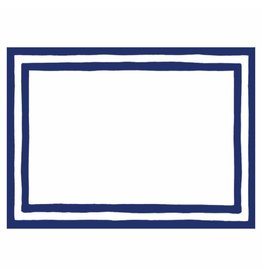 Caspari Name Tags Self Adhesive Labels 12pk Blue Border Stripe