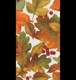 Caspari Thanksgiving Fall Guest Towel Napkins 15pk Autumn Leaves II