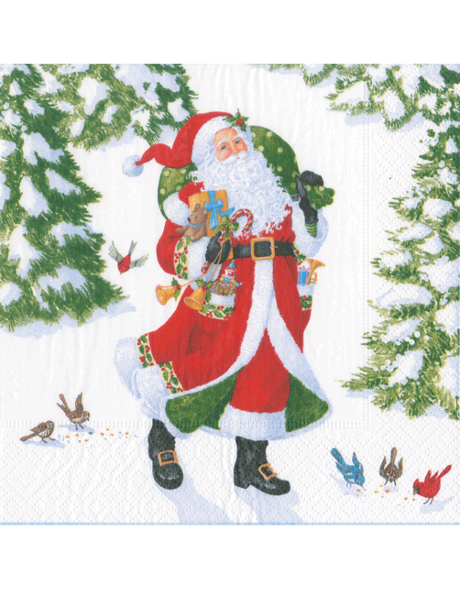 Christmas Paper Cocktail Napkins 20pk Woodland Santa Digs N Gifts