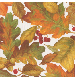 Caspari Thanksgiving Fall Paper Cocktail Napkins 20pk Autumn Leaves