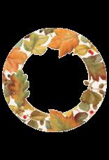 Caspari Thanksgiving Paper Dinner Plates 8pk Round Autumn Leaves II