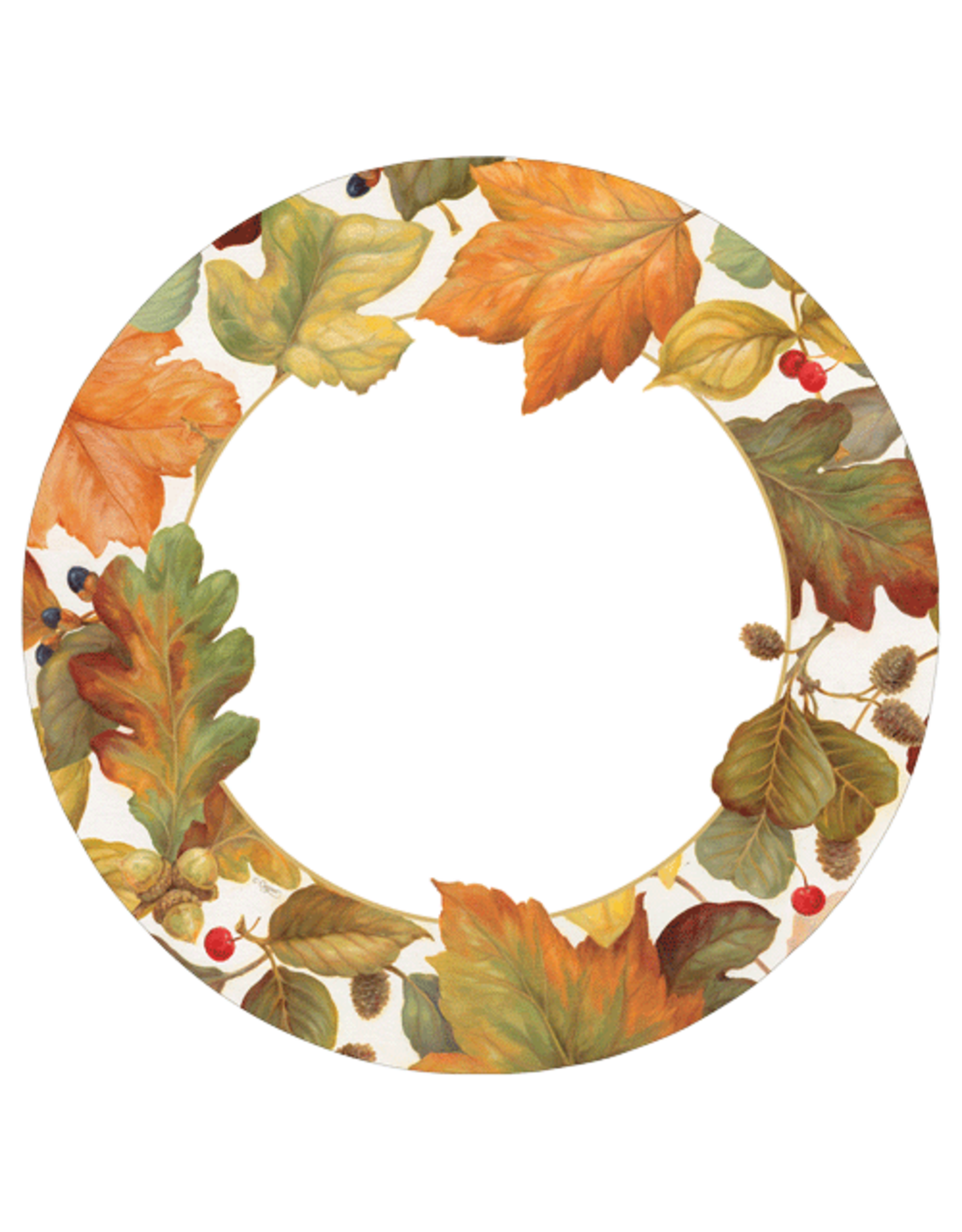 Thanksgiving Paper Dinner Plates 8pk Round Autumn Leaves Ii Digs N Gifts