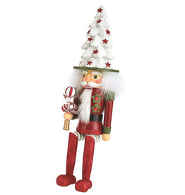 Kurt Adler Hollywood Tree Hat Nutcracker Shelf Sitter 17 Inch