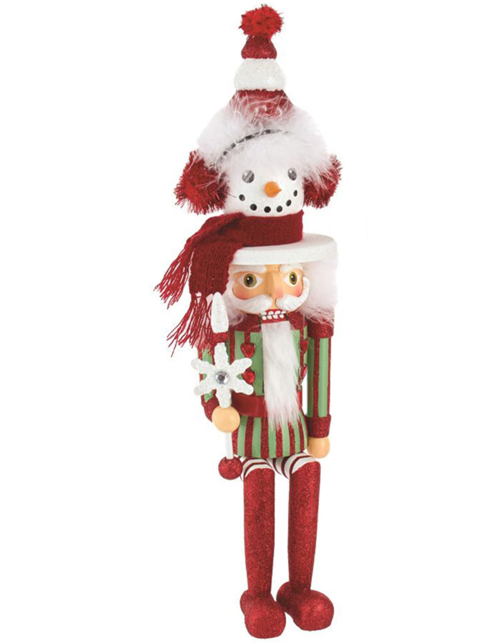 Kurt Adler Hollywood Snowman Hat Nutcracker Shelf Sitter 17 Inch
