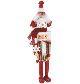 Kurt Adler Hollywood Snowman Hat Nutcracker Shelf Sitter 17 Inch