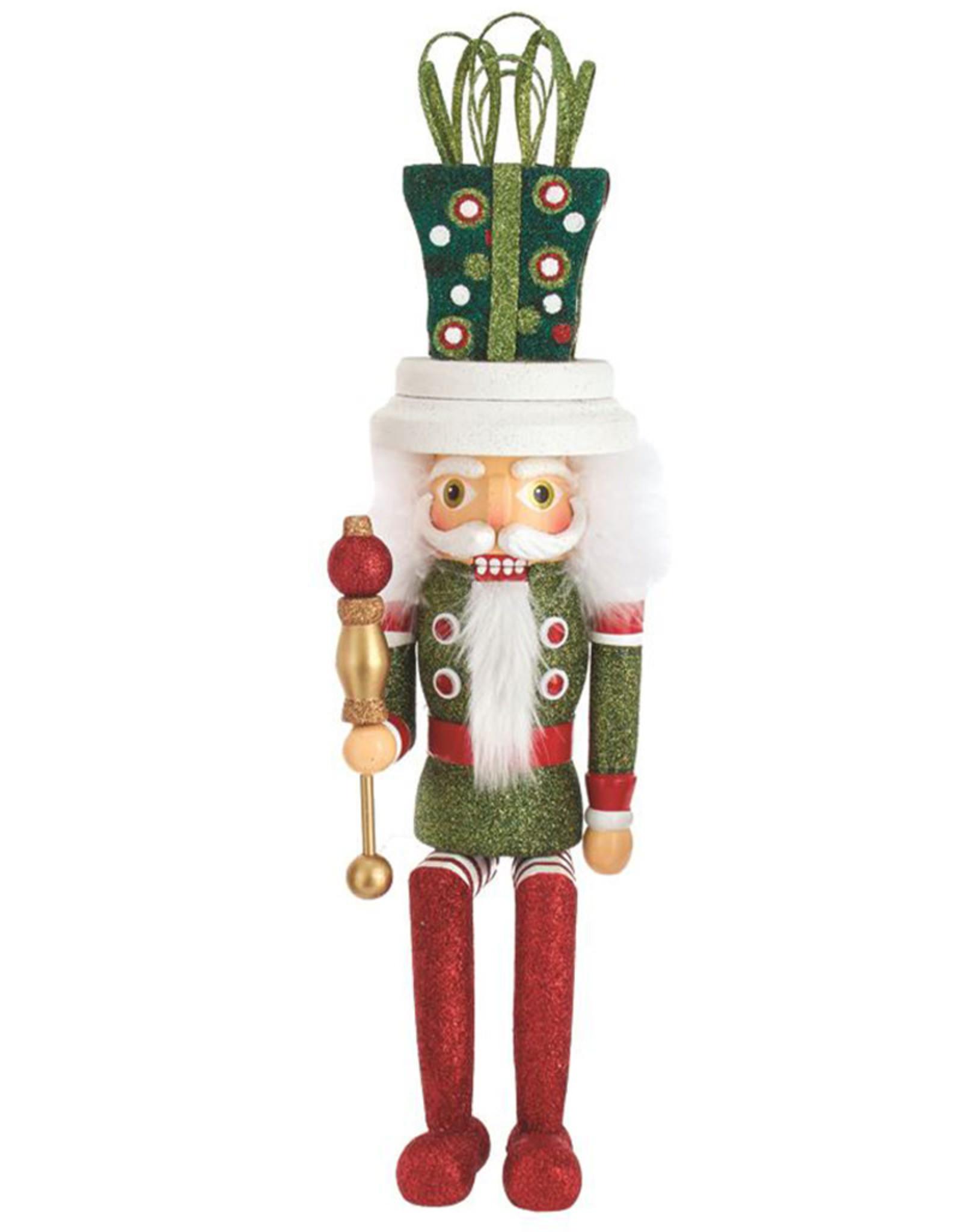 Kurt Adler Hollywood Gift Hat Nutcracker Shelf Sitter 17 Inch