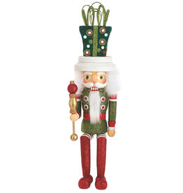Kurt Adler Hollywood Gift Hat Nutcracker Shelf Sitter 17 Inch