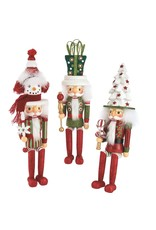 Kurt Adler Hollywood Nutcrackers Shelf Sitters 17 Inch 3 Assorted