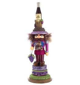 Kurt Adler Hollywood Wood Wine King Nutcracker 17.5H