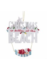 Kurt Adler Beach Santa On Hammock Coastal Christmas Ornament 4 Inch