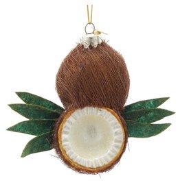 Kurt Adler Coconut Glass Nobel Gems Ornament 4 Inches