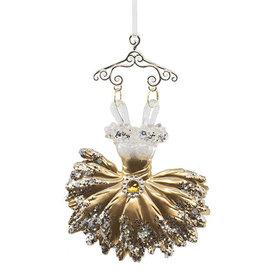 Kurt Adler Gold Ballerina Dress Ornament Style A