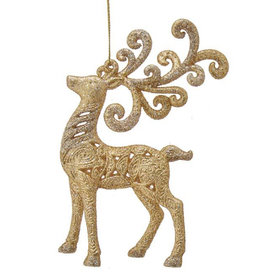 Kurt Adler Gold Reindeer Ornament 6 Inch