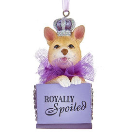 Kurt Adler Royally Spoiled Royal Splendor Dog Ornament