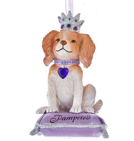 Kurt Adler Pampered Royal Splendor Dog Ornament