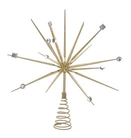 Kurt Adler Christmas Tree Topper Gold Thorn Spring Treetop