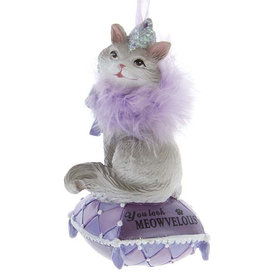 Kurt Adler You Look Meowvelous Royal Splendor Cat Ornament