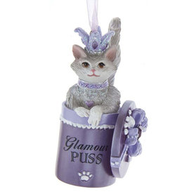 Kurt Adler Glamour Puss Royal Splendor Cat Ornament