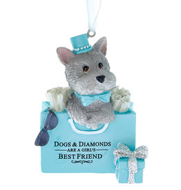 Kurt Adler Dog In Purse Ornament Dogs N Diamonds Are A Girls Best Friend