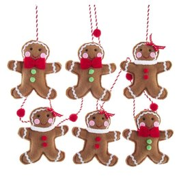 Kurt Adler Fabric Gingerbread Garland 6 FT