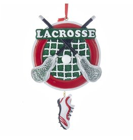 Kurt Adler Lacrosse With Shoe Dangle Ornament For Personalization