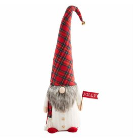 Mud Pie Christmas Gnomes Large Tartan Gnome 31 Inch