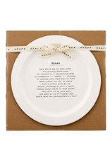 Mud Pie Share Platter W Poem About The Journey Of Sharing The Platter 14D