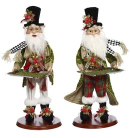 Mark Roberts Fairies Christmas Elves With Platters 19.5 Inch 2 Assorted