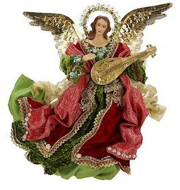 Elegant Flying Angel W Lute 18 Inch