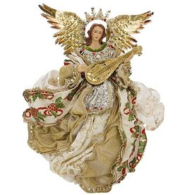 Golden Flying Angel W Lute 18 Inch