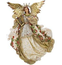 Golden Flying Angel W Harp 18 Inch