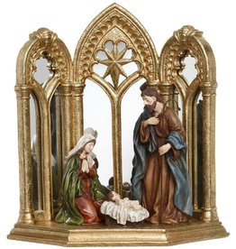 Holy Family Nativity Triptych 13 Inch