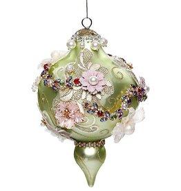 Vintage Floral Kings Jewel Ornament 7.5 Inch GRN